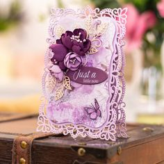 """Crafter's Companion US on Instagram: """"Just a little note to say that the Vintage Lace collection launches on @hsn on Tuesday!"""" Scrapbook Paper Crafts, Diy Scrapbook, Crafters Companion Cards, Tattered Lace Cards, How To Make Scrapbook, Decorative Leaves, Craft Stash, Metal Crafts, Vintage Lace"""