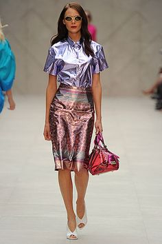 4e86ff5d5f4 The iridescence trend spotted at  SS13 by Anna Trevelyan  HairMeetWardrobe  Fashion Editor