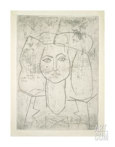 Portrait of Francoise, dressed... Art Print by Pablo Picasso at Art.com