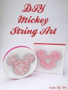 DIY Mickey String Art // Inspired By Dis disney crafts for adults #disney
