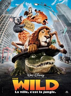 The Wild , starring Kiefer Sutherland, James Belushi, Eddie Izzard, Janeane Garofalo. An adolescent lion is accidentally shipped from the New York Zoo to Africa. Now running free, his zoo pals must put aside their differences to help bring him back. #Animation #Adventure #Comedy #Family