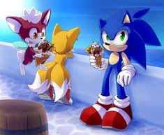 "Sonic the Hedgehog, Miles ""Tails"" Prower and Chip - Sonic Unleashed Artwork"