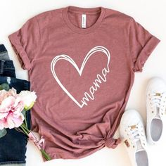 Show your MAMA love with this comfy and soft shirt! Fits slightly oversized/roomy you may considering down if you prefer more of a women's fit. Swipe in photos section to see a preview of color options! Mom Of Boys Shirt, Mama Shirt, Shirts For Girls, Kids Shirts, Pregnancy Shirts, Baby Shirts, Cute Shirts, Cute Shirt Designs, Heart Shirt