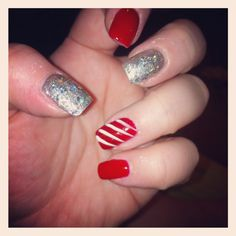 my current holiday nails