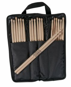 10 #Pairs Promark LA Special 5B Wood Tip Drumsticks with Onstage Stick Bag Package $19.85
