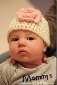Easy Crochet Newborn Hat Free Pattern