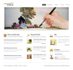Painters XHTML Template - 6236 - Art & Photography - Website Templates - DreamTemplate