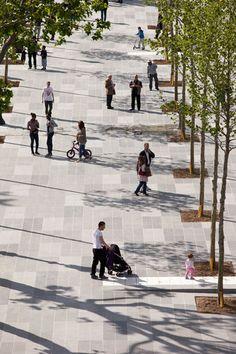 Place de la République, Paris, redesigned by TVK (Pierre Alain Trévelo & Antoine Viger-Kohler). Click image for fully-illustrated description, and visit the slowottawa.ca boards >> http://www.pinterest.com/slowottawa/