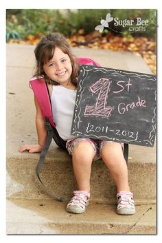 Use the first day of school to start a photo tradition to be given at graduation.