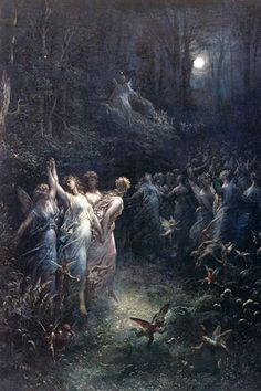 View Midsummer nights dream by Gustave Doré on artnet. Browse upcoming and past auction lots by Gustave Doré. Art And Illustration, Gustave Dore, Fantasy Kunst, Fantasy Art, Renaissance Kunst, Arte Obscura, Inspiration Art, Midsummer Nights Dream, Classical Art