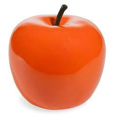 Statuette pomme orange H 15 cm COVENT
