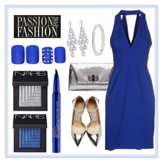 """""""Dinner and dancing."""" by la-chile ❤ liked on Polyvore featuring Diane Von Furstenberg, Jimmy Choo, Carolee, NARS Cosmetics, Michael Kors, Zac Posen, Static Nails and Smashbox"""