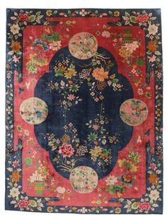China antique Art deco carpet 265x350