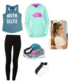 """""""gym outfit"""" by haleyoscarson ❤ liked on Polyvore featuring NIKE and The North Face"""