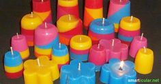 Aus Wachsresten neue Kerzen gießen