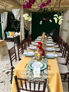 "Table setting Decoration with red roses and Marroquí style for a Sukkot on 2017  ""Sukkot is a biblical Jewish holiday celebrated on the 15th day of the seventh month, Tishrei."" #decoration #Sukkot #Suka #rosas #red #redrosas #morroccan  #morrocan #morroccandecoration #marroqui #lamps #lamp #marroccanlamp #love #weeding #chiavari #chair #DavidStar #david #star #lantern"