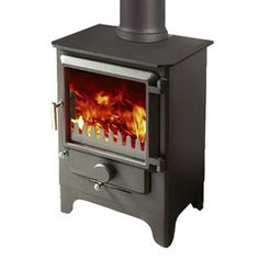 Merlin Slimline DEFRA Stove - The Merlin Slimline, our smallest stove, has plenty to offer. Compact and functional with our trademark large unobstructed glass front, this stove offers intelligent heat with all the characterisics of design and concept that define the Merlin range of multifuel stoves.