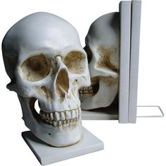 Skull Bookends - Nemesis Now