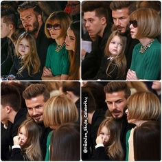 Harper Beckham is an angel sitting next to Anna Wintour on the FROW at mum Victoria's NYFW show.#harperbeckham #blonde #cute #baby #davidbeckham #bae #AnnaWintour #VictoriaBeckham #vogue #VogueMagazine #fashion #style #celebrity #celebritylook  #fashionicon #beautiful #pretty #stylish #lookbook #look #ootd #outfit #heels #shoes #nofilter #girl #makeup... - Celebrity Fashion