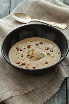MELLOW AUTUMN WITH MUSHROOMS WITH HAZELNUTS - Velouté d'automne - Cèpes Noisettes