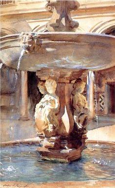 Spanish Fountain - John Singer Sargent, 1912, Fitzwilliam Museum Cambridge.