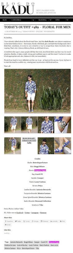 Kadu usa bermuda branca Etiqueta Negra em  Today's Outfit #489 - Floral for Men, do seu proprio blog.