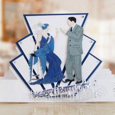 Art Deco Stepper Card (ETL532) – Tattered Lace
