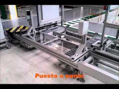 Línea de producción MiniTec para cliente en Brasil, donde nuestros montadores se han desplazado para hacer su montaje