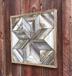 Excited to share this item from my shop: Reclaimed wood wall art - Outdoor Art - Barn Star - Rustic Modern