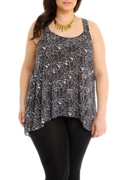 94d21bdbe80f0 Guilty - A-Line Top in Black And White