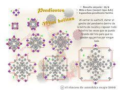 El rincon de Anuskka: Esquema Pendientes Mini Bolitas