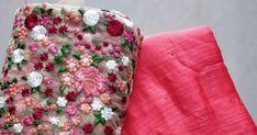 Fancy jute Georgette Sarees with blouse Elegant Fashion Wear, Trendy Fashion, Georgette Sarees, Silk Sarees, Plain Saree With Heavy Blouse, Silk Saree Blouse Designs, Saree Trends, Designer Blouse Patterns, Punjabi Suits