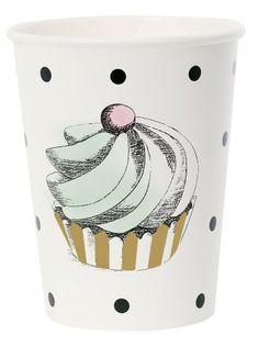 Vasos de Papel Cake & Dots