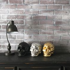 ANY COLOR Skull Sculpture // Fake Human Skull Replica // Faux Taxidermy // Skeleton // Gothic Decor // Halloween // Sugar Skull // Figurine by KINGFOUR on Etsy