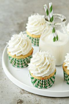 Coconut Cupcakes by My Baking Addiction