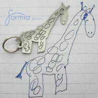 This company turns your child's drawing into a key ring.
