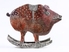 Ute Großmann , 'Pigases' - Ceramic (love the titel of this work)