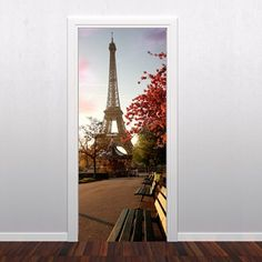 Paris Door Sticker - Moon Wall Stickers