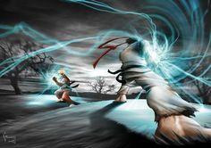 DeviantArt: More Like Ryu's hadouken vs ken's by MrLestat450