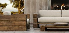 Aspen Collection | Restoration Hardware - easier to make this than put together outdoor ikea furniture