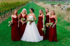 Amsale Bride and Bridesmaids. #Amsale #RealWedding