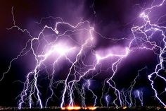 Nature's Dance Lightning storm over Twin Falls, Idaho. Lisa Kidd, edit via ~Lori