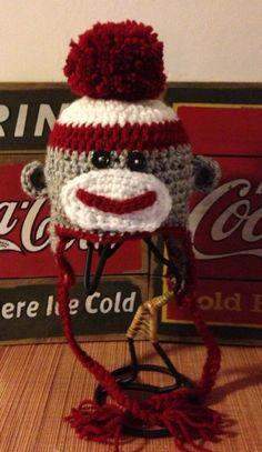 Sock Monkey Hat by grammabeans on Etsy, $17.99