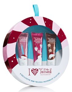 Bath & Body Works Liplicious - I Heart Twisted Peppermint Gift Set Holiday 2012