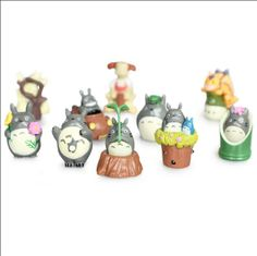 Totoro Hayao Miyazaki gardening succulents / moss eco bottle / micro landscape diy ornaments decorated 4-5cm high - Taobao
