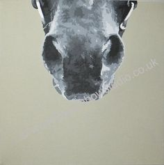 "Horses nose portrait painting acrylic on 16""x16"" canvas by Emma Giles www.therainbowstudio.co.uk commissions taken"