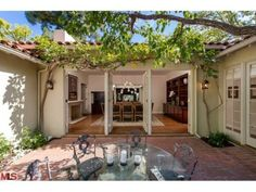 Jodie Foster Re-Lists Private Hollywood Hills Home | Love these French doors that turn on Pivot! Brilliant!