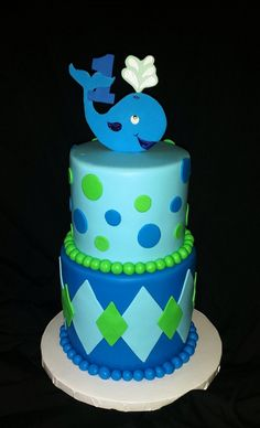 Whale birthday cake | Mick's Sweets - Flickr - Photo Sharing!