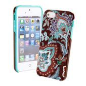 Hybrid Hardshell for iPhone 5 in Petal Paisley | Vera Bradley ink blue or java blue