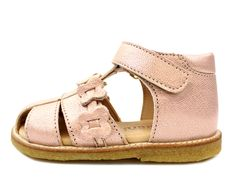 1618f5aec86b Bisgaard sandals rose gold with velcro